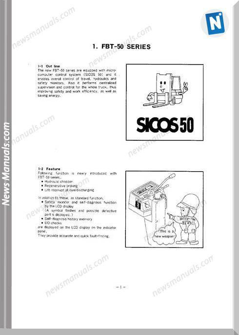 Nichiyu Forklift Fbt10 13 15 18P Sicos 50 Troubleshooting
