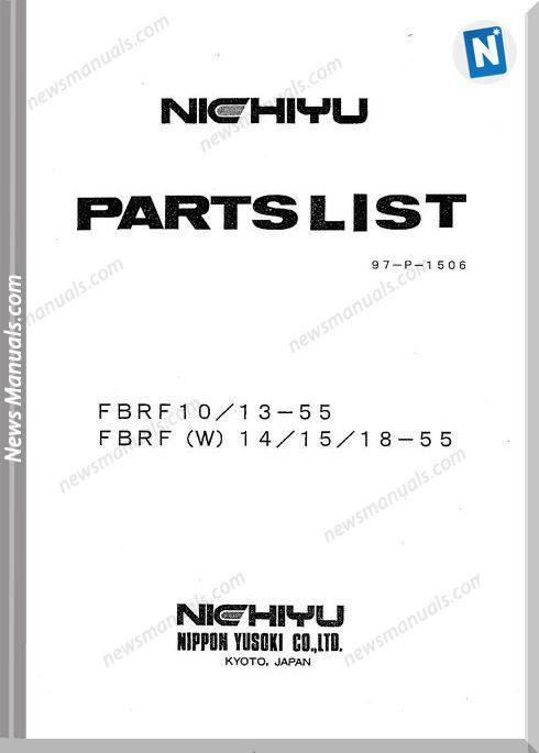 Nichiyu Reach Truck 469 Fbrf (W) 10 14 15 18 (55 Series