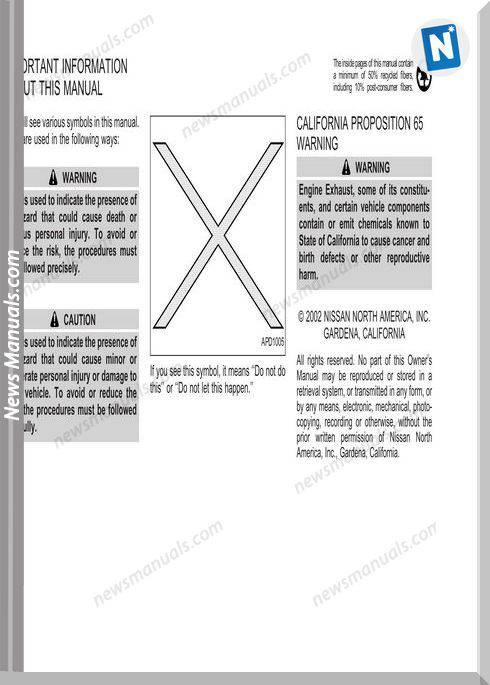 Nissan Sentra 2002 Service Manual