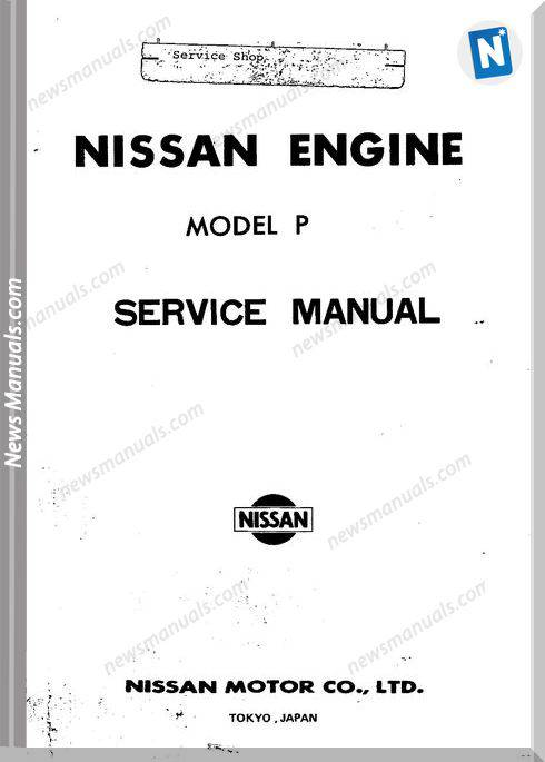 Nissan Service Manuals Engine Model P
