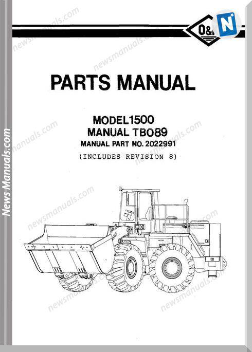 O K 1500 2 Models Part Manual