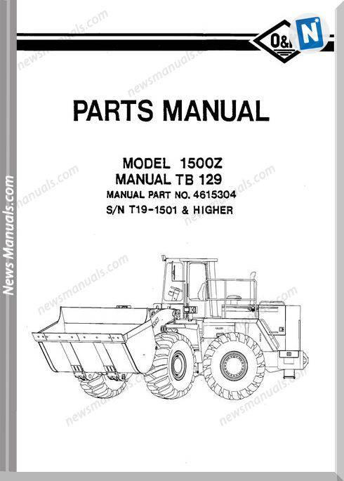 O K 1500Z Models Part Manual