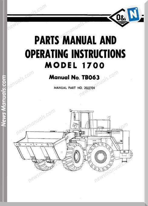 O K 1700 Models Part Manual