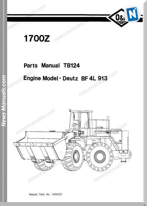 O K 1700Z Models Part Manual