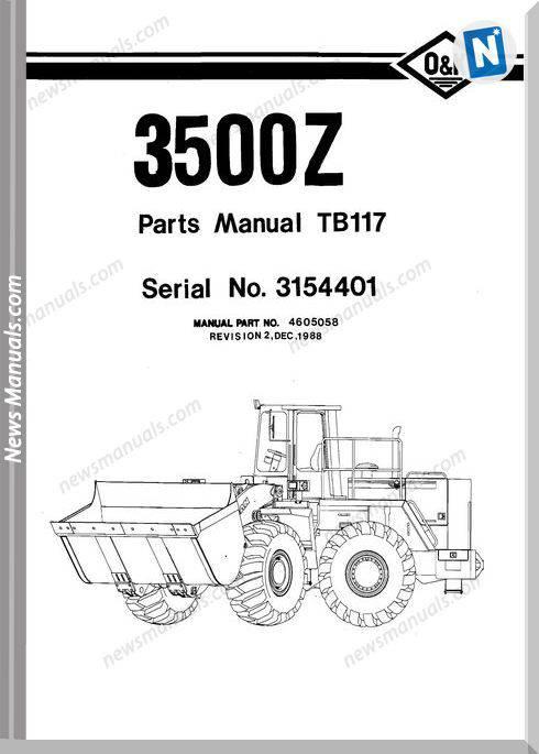 O K 3500Z Models Part Manual