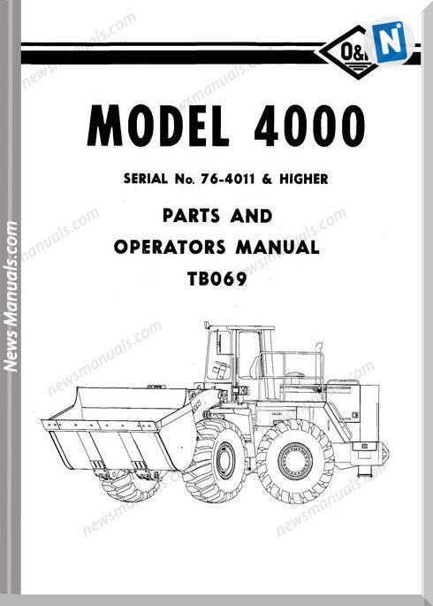 O K 4000 2 Models Part Manual