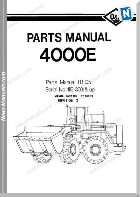 O K 4000E Models Part Manual