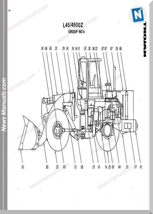 O K 4500Z Models Part Manual