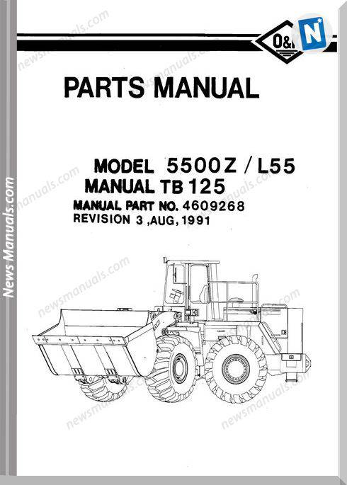 O K 5500Z Models Part Manual