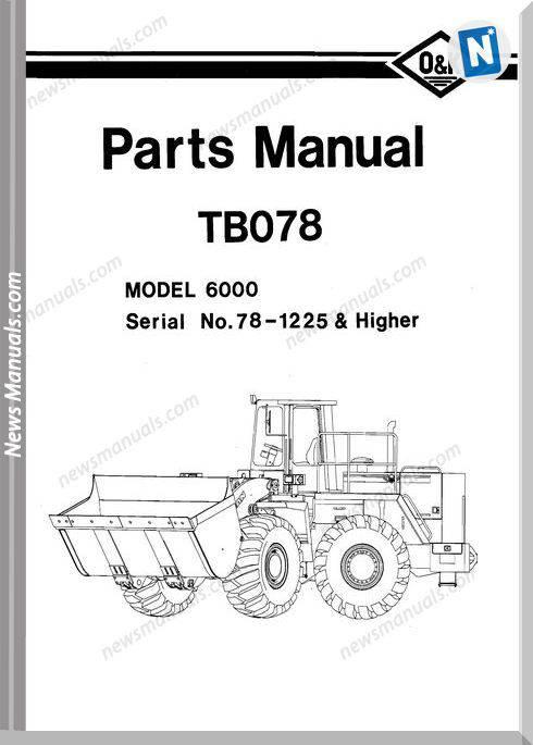 O K 6000 2 Models Part Manual