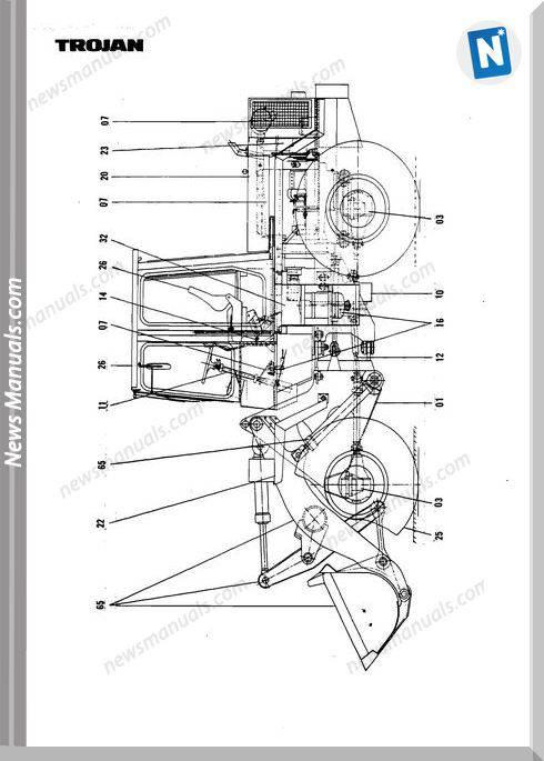 OAndK Trojan 1700Z Tb124 Parts Book