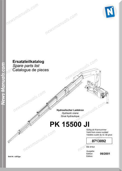 Palfinger Pk15500 Parts Catalog