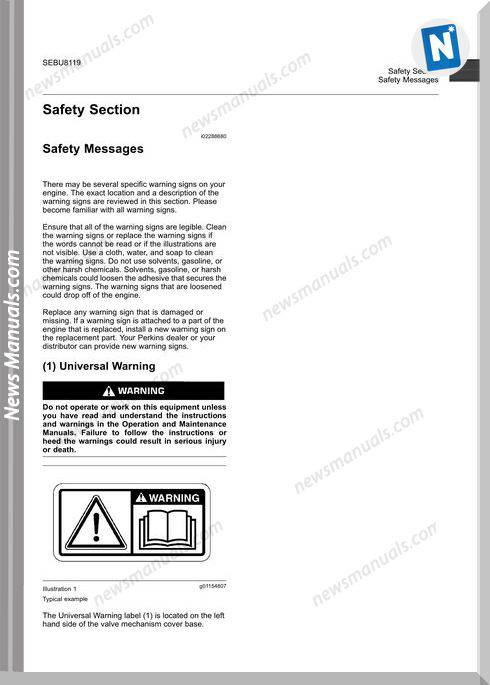 Perkins 1106D Industrial Engine Maintenance Manual