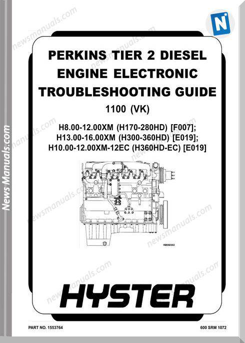 Perkins Tier 2 Engine Electronic 1100(Vk) Repair Manual