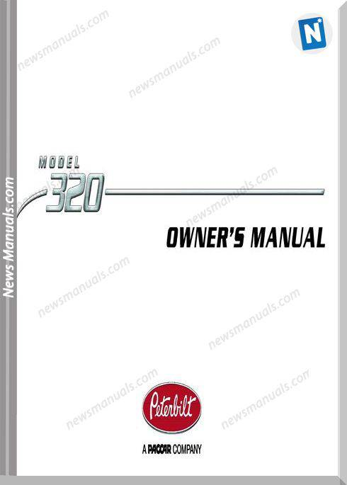 Peterbilt Model 320-After 9-2009 Operator Manuals