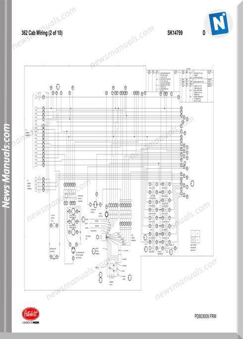 Peterbilt-Pb362 Cab Wiring Schematic (Sk14799)