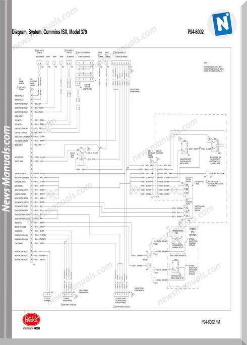 Peterbilt Pb379 Cummins Isx P94-6002 Wiring Diagram