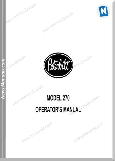 Peterbilt Supplemental Model 270 Operator Manuals