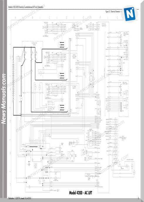 Raymond Forklifts 4100 4200 00001 Up Schematics Manual