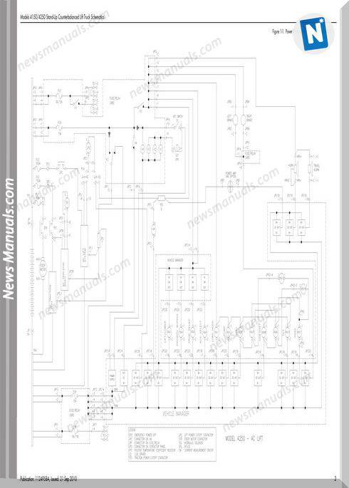 Raymond Forklifts 4150-4250 Sn30000Up Schematics Manual