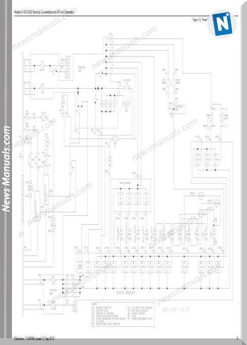 Raymond Forklifts 4150-4250 Sn30000Up Schematics Manual