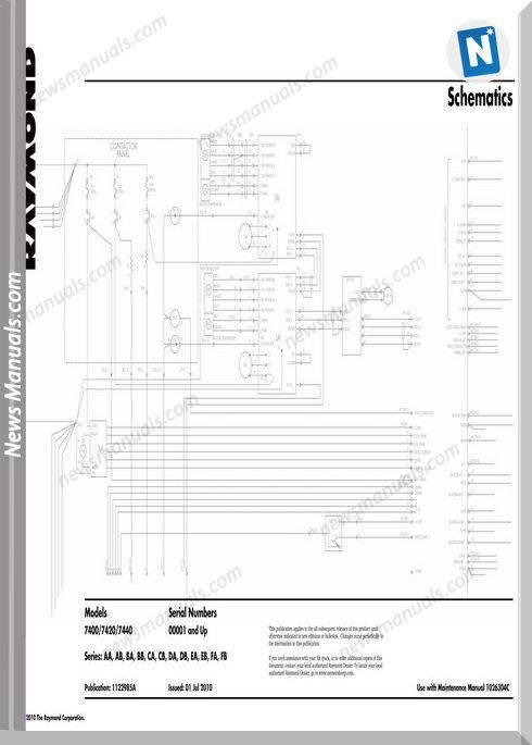 Raymond Forklifts 7400 7420 7440 Sn001 Up Schematics