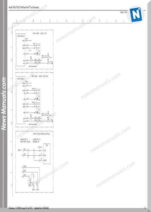 Raymond Forklifts 7400 7420 7440 Sn001 Up Schematics