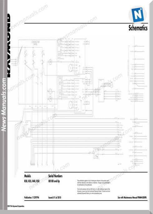 Raymond Forklifts R30 R35 R40 R50 Sn100Up Schematics
