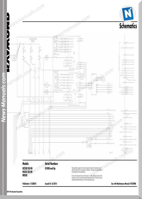 Raymond Forklifts Rsc20-40 Rss22-40 Rrs30 Schematics