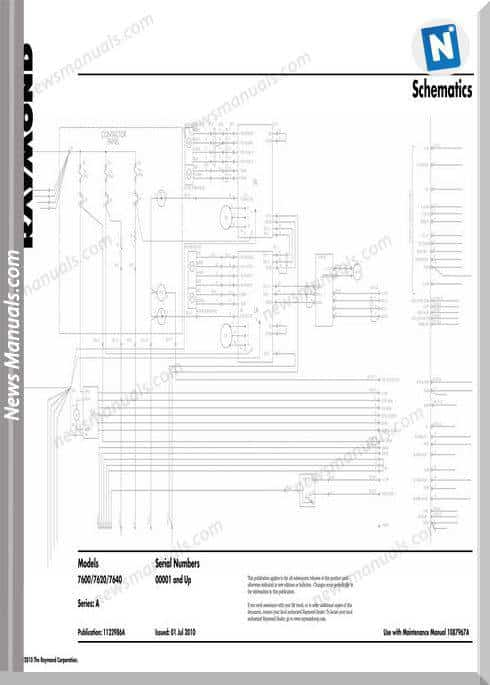 Raymond Forklifts S 7600-7640 Sn 001 Up Schematics