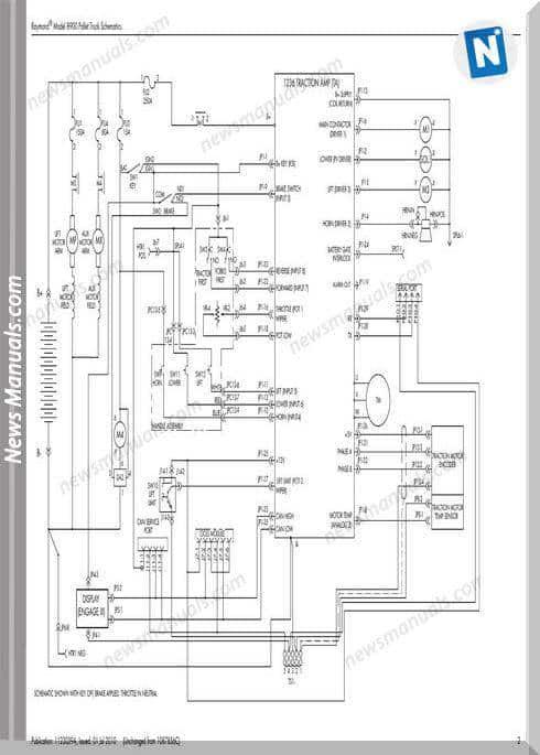 Raymond Forklifts S 8900 Sn01003 Up Schematics Manual
