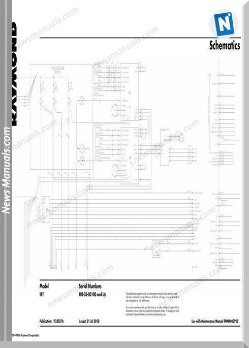 Raymond Forklifts Trt Sn 100 Up Schematics Manual