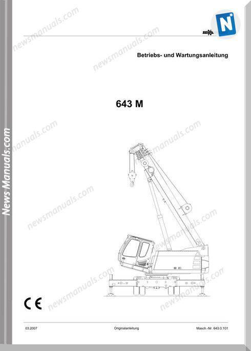 Senneboge Crane 643 M De Language Operator Manual