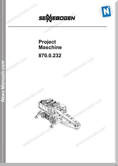 Sennebogen Project Maschine No 870.0232 Part Catalogue