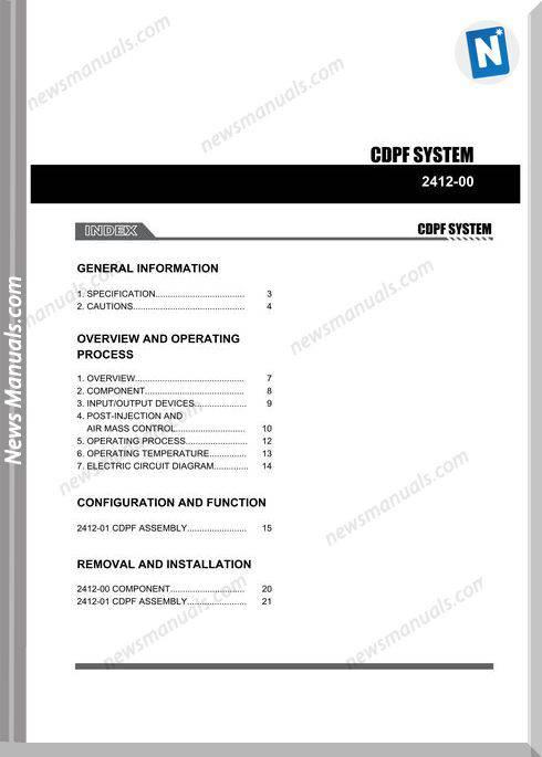 Ssang Yong Korando New Actyon 2010 2013 Cdpf System Repair