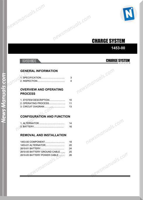Ssang Yong Korando New Actyon 2010 2013 Charge System