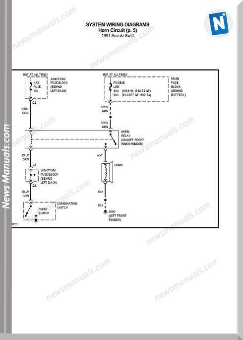 Suzuki Swift 1991 Wiring Diagrams