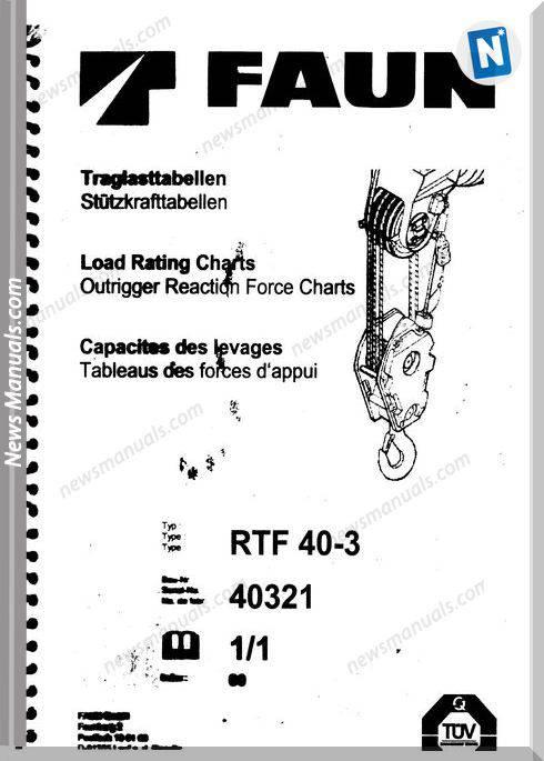 Tadano Faun Rtf 40-3 Load Rating Charts User Manuals