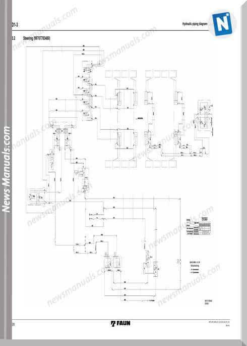 Tadano Faun Rtf80-4 Part D 2 Hydraulic Circuit Chassis