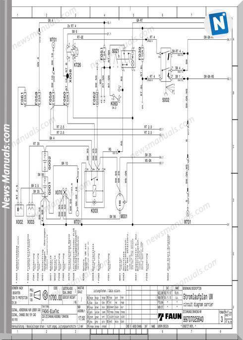 Tadano Faun Tf90G-4 Circuit Diagram