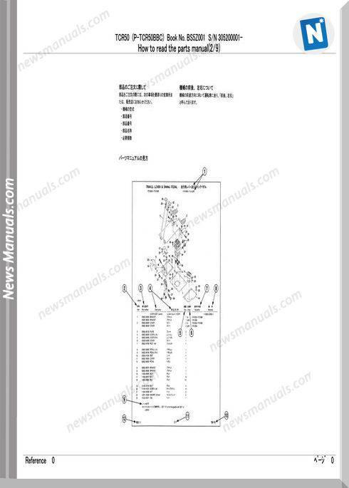 Takeuchi Dump Carrier Tcr50 Bs5C001 Parts Manual
