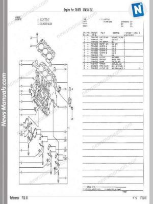 Kubota Diesel Engine D950 Parts Manual