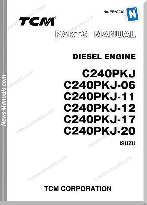 Tcm Forklift C240P All Series Diesel Engine Parts