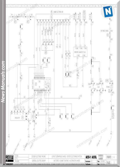 Terex Ac55-1,Ac55L Electric Schematic