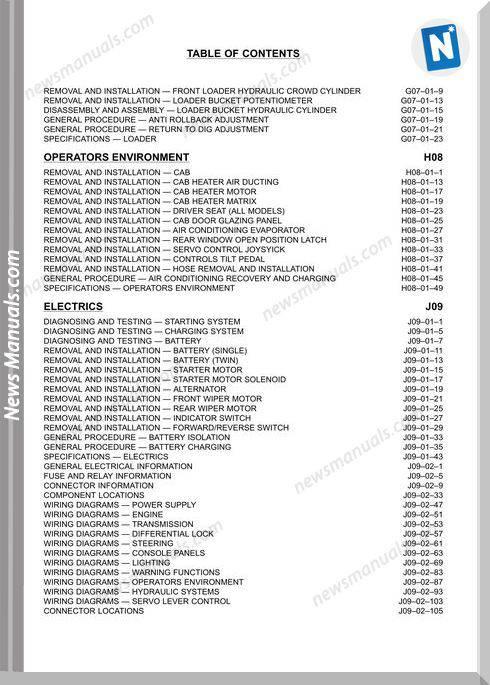 Terex Backhoe Loader Tx760 860 970 980 Workshop Manual