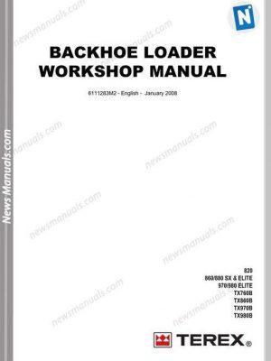 Terex Backhoe Loader Tx760860970980B Workshop Manual