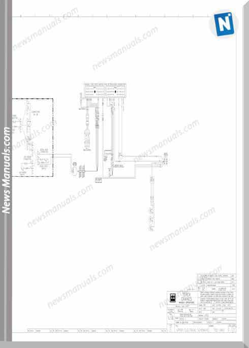 Terex Cranes Rt300-1 Electrical Schematic