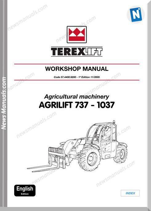 Terex Forklift Agrilift 737 1037 Workshop Manual