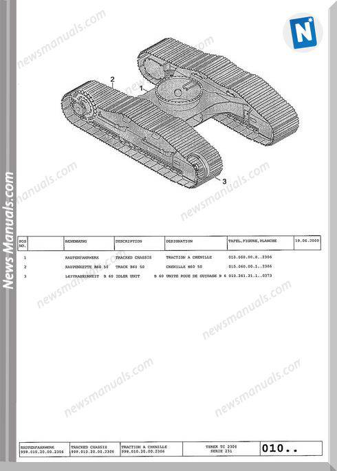 Terex Heavy Crawler Excavators E-Liste 2306 Part Manual
