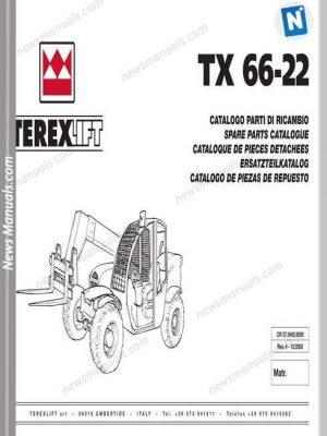 Terex Lift Tx66-22 Parts Manual